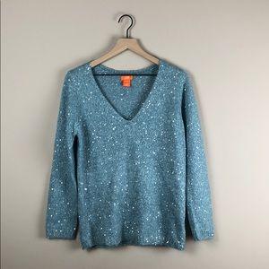 Joe Fresh Blue Sequin Sweater (Medium)